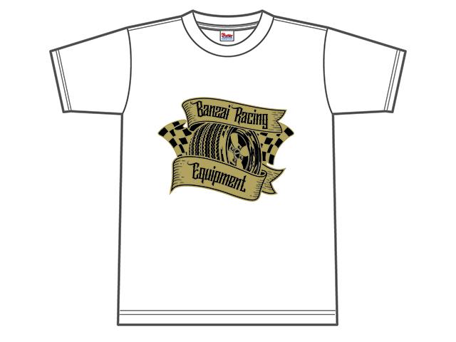Banzai Racing Tシャツ (ホワイト/BR01WT)
