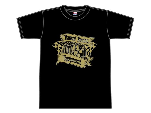 Banzai Racing Tシャツ (ブラック/BR01BK)