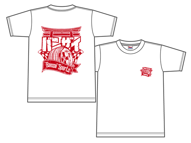 Banzai Racing Tシャツ (ホワイト/BR02WH)