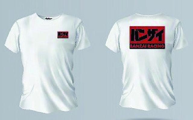 バンザイ Tシャツ (ホワイト/BREWH)