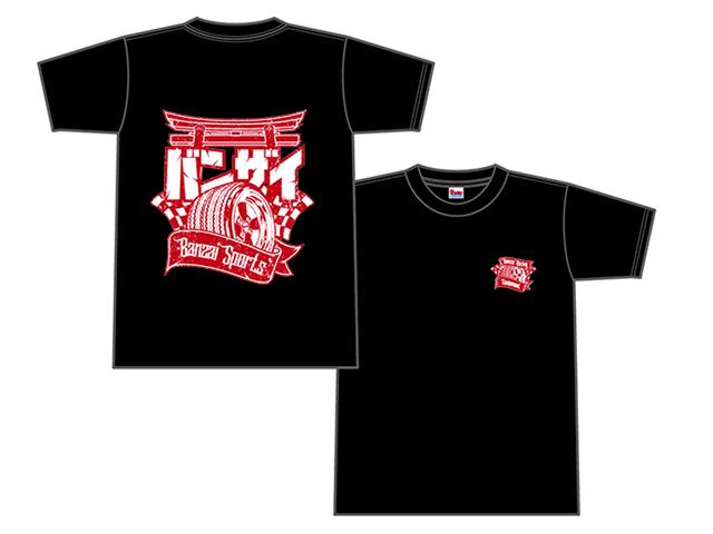 Banzai Racing Tシャツ (ブラック/BR02BK)